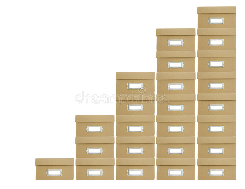 Stacked boxes stock image