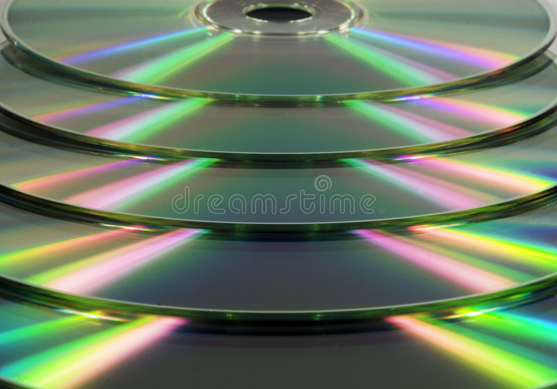 Stacked CD/DVD's royalty free stock photos
