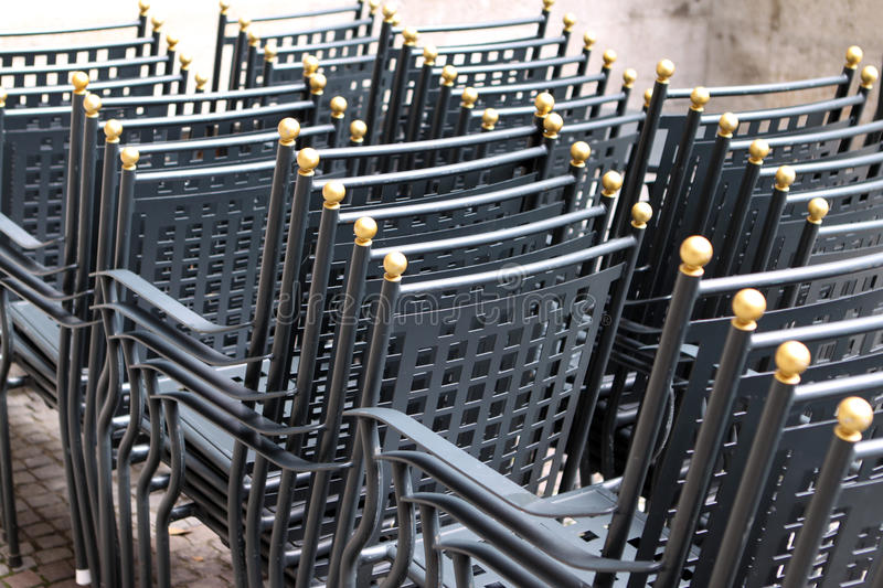 Download Stacked Chairs stock photo. Image of seats, party, armrest - 15435796