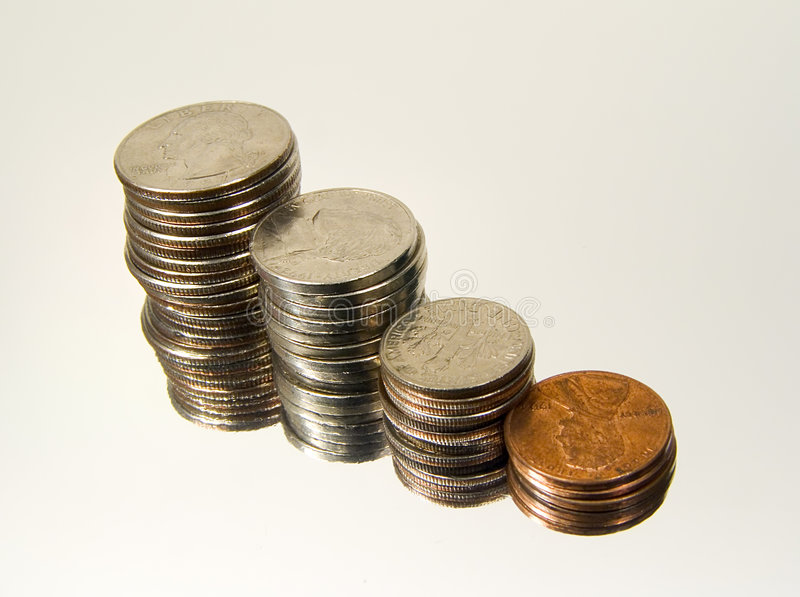 Download Stacked Change 3 stock image. Image of money, currency, accounting - 12859