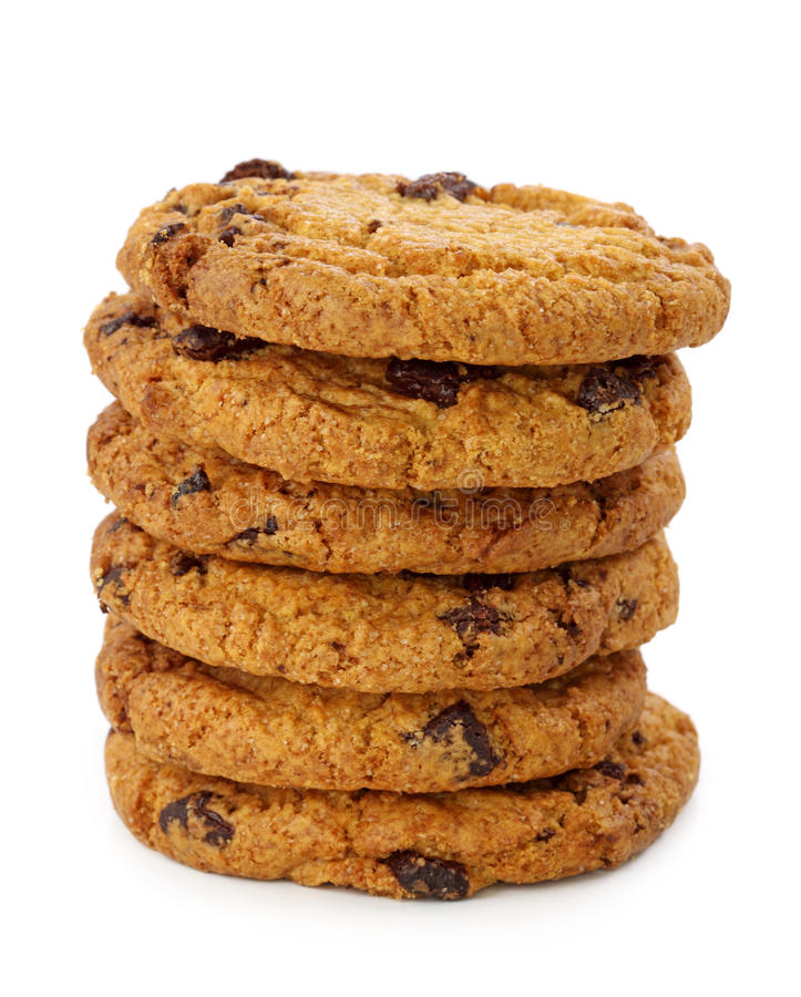 Download Stacked Chocolate Chip Cookies Stock Photo - Image of cookies, vertical: 16175190