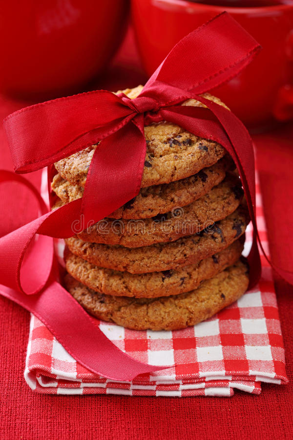 Free Stacked Chocolate Cookies Stock Images - 15943424