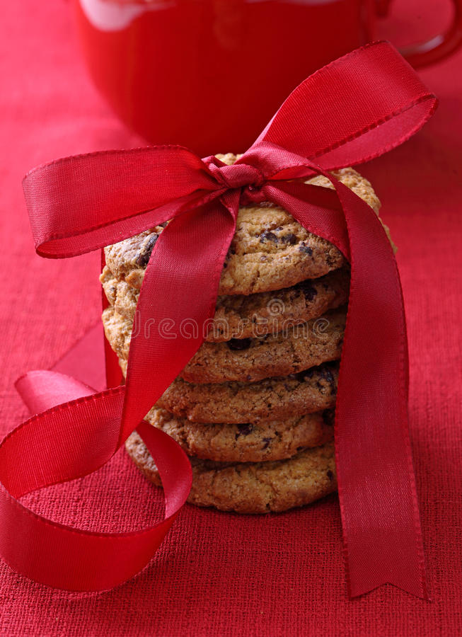 Free Stacked Chocolate Cookies Royalty Free Stock Photography - 16012017