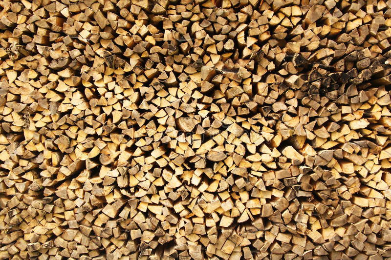 Stacked chopped wood 2 royalty free stock photo