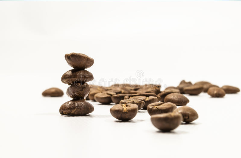 Download Stacked coffee Beans stock image. Image of drink, ingrained - 24540715