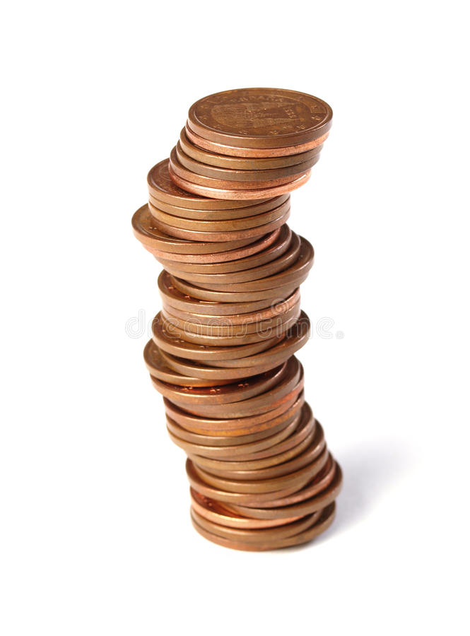 Free Stacked Coins 2 Royalty Free Stock Photo - 27234115