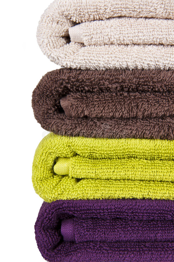 Download Stacked colorful towels stock photo. Image of domestic - 17363148