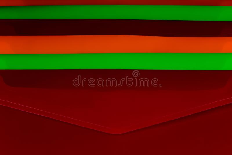 Stacked Coloured Plastic Office Document Folders stock image