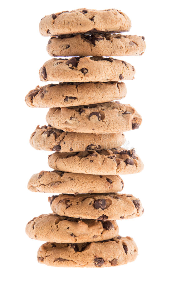 Free Stacked Cookies Isolated On White Stock Photography - 26026782