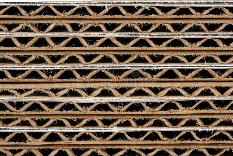 Download Stacked Corrugated Cardboard Boxes Macro Stock Photo - Image: 5653282