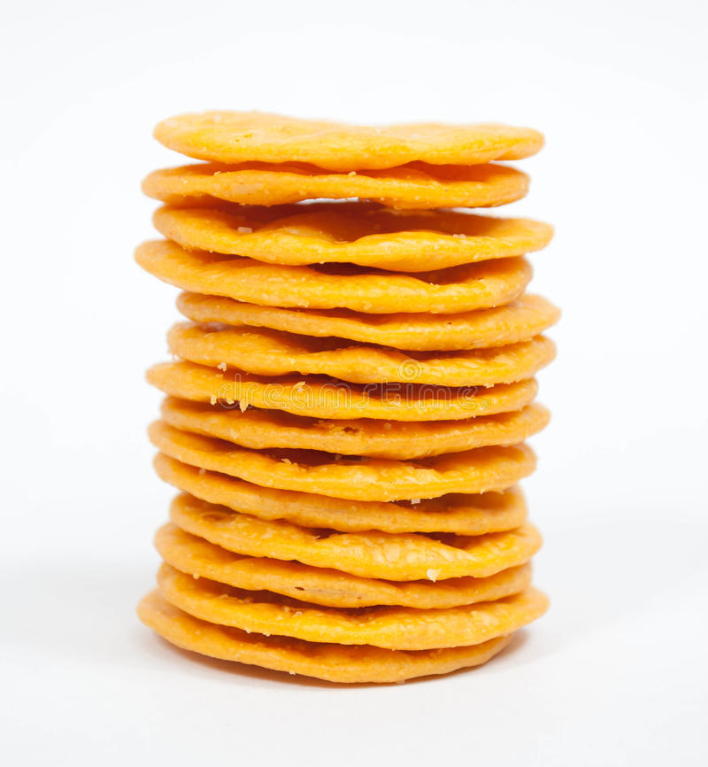 Stacked Crackers stock images