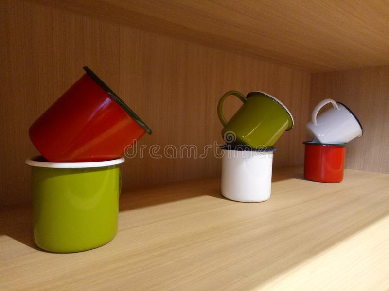 The stacked cups. royalty free stock photography