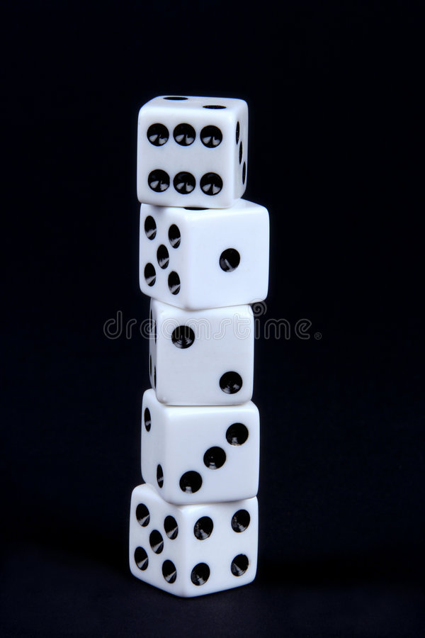 Free Stacked Dice Royalty Free Stock Images - 1430299