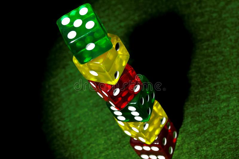 Stacked Dice Stock Photography
