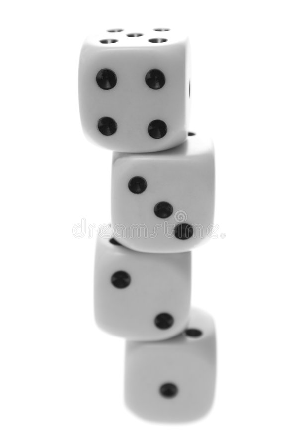 Free Stacked Dice. Royalty Free Stock Photos - 3553278