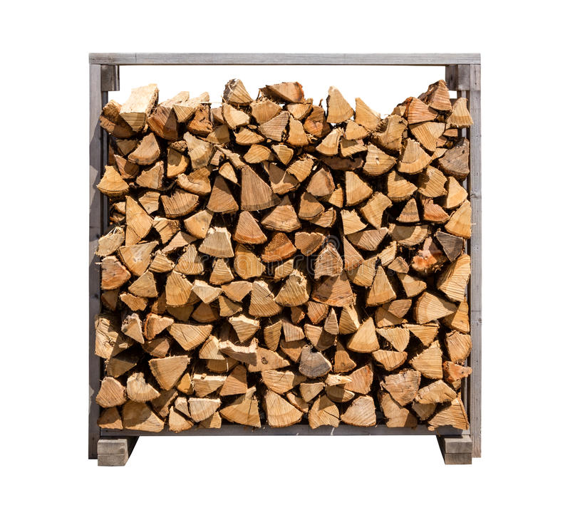 Download Stacked Firewood Isolated On White Stock Photo - Image of timber, nobody: 26359788