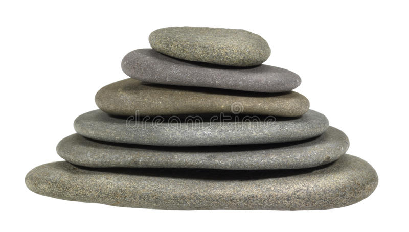 Download Stacked flat pebbles stock image. Image of nature, rounded - 30588525