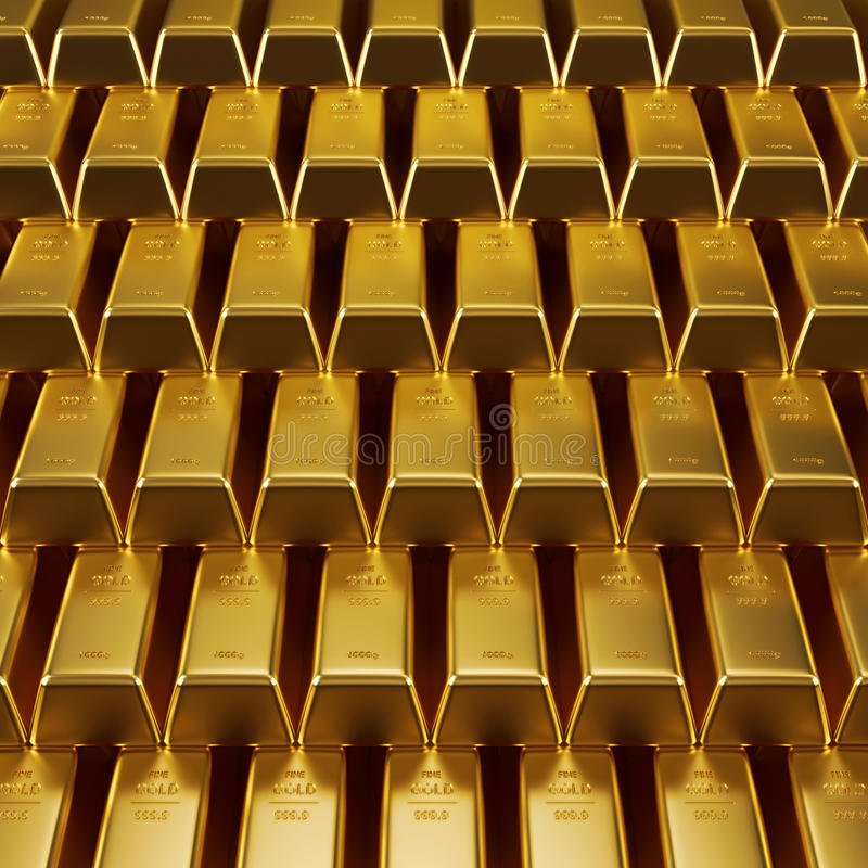 Stacked gold bars royalty free stock photography