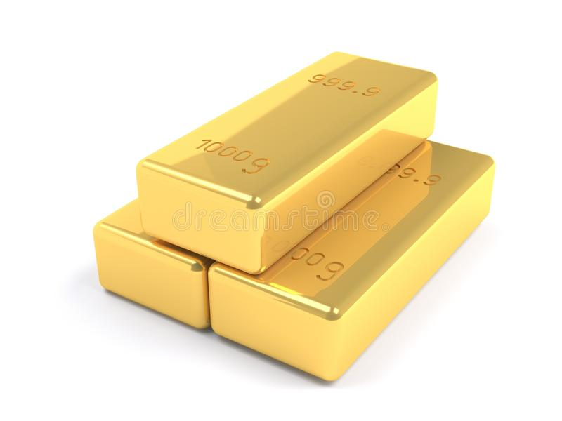 Stacked Golden Bars Stock Photography