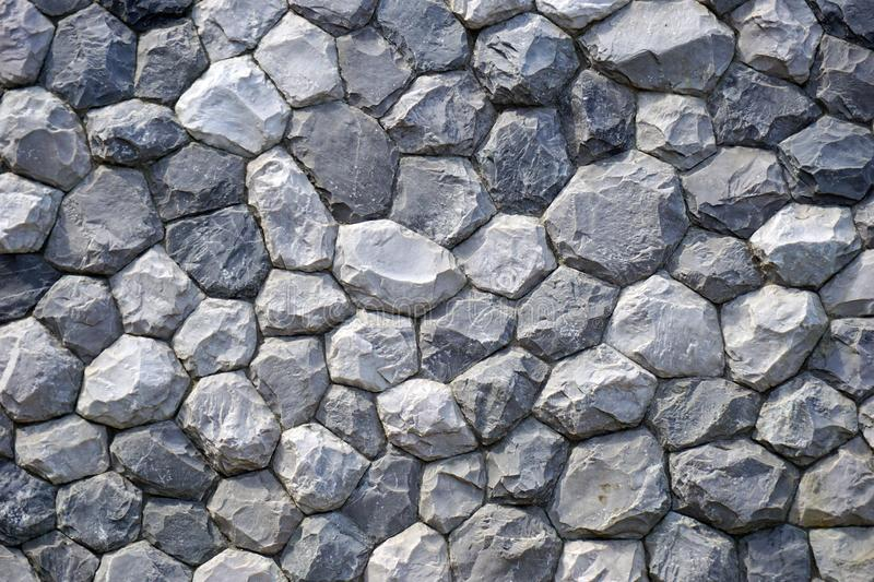 Gray stone Wall for texture backgroun. Stacked gray stone Wall for texture backgroun royalty free stock photos