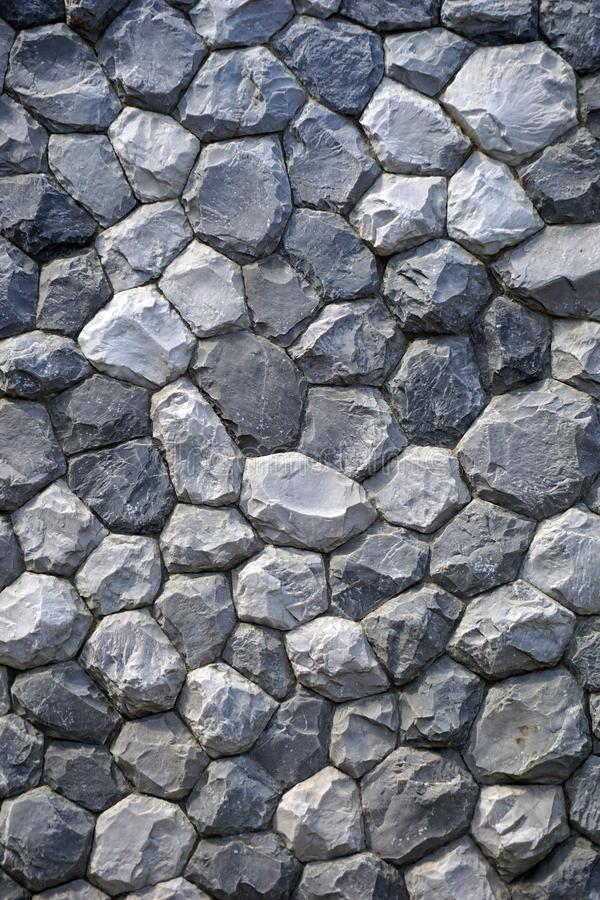 Gray stone Wall for texture backgroun. Stacked gray stone Wall for texture backgroun royalty free stock photo