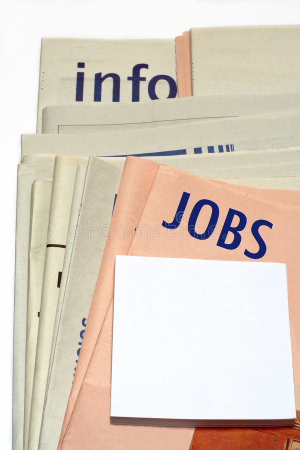 Free Stacked Jobs Newspapers Royalty Free Stock Images - 783289