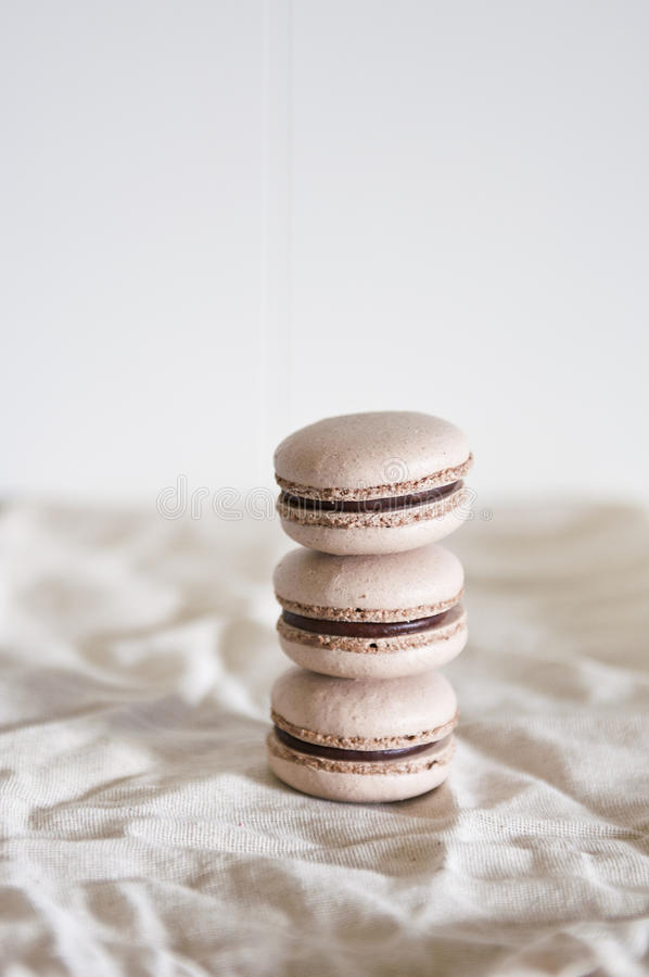 Stacked macarons royalty free stock images