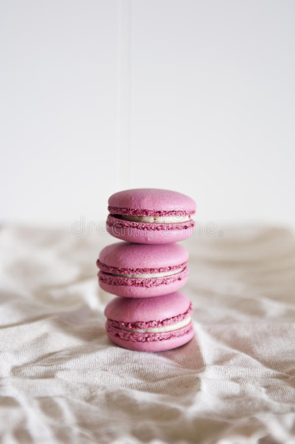 Stacked macarons royalty free stock photos
