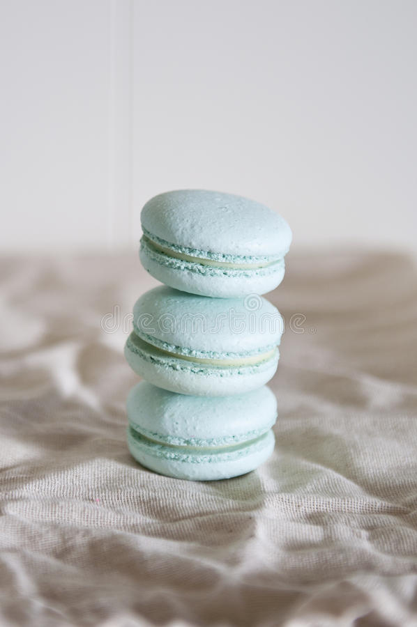 Stacked macarons stock photography