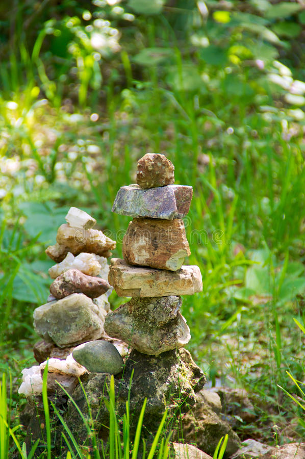 Download Stacked memorial stones stock image. Image of twin, sunny - 36569053