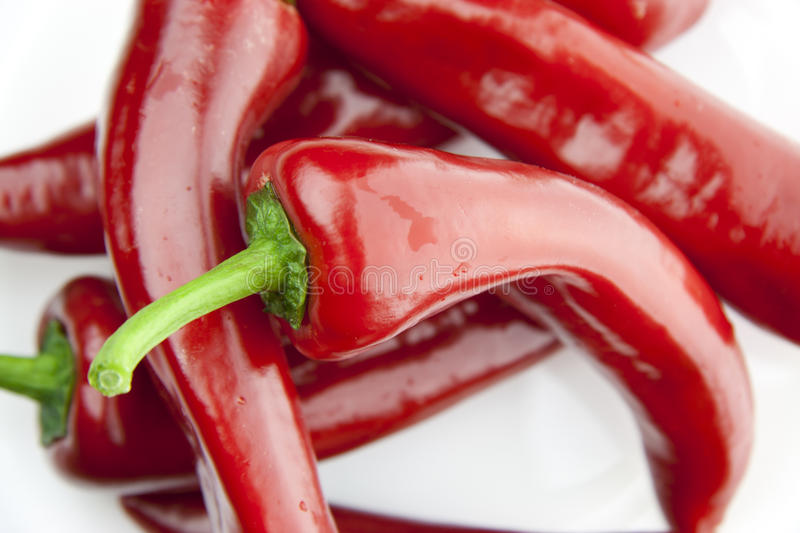 Stacked paprika stock images