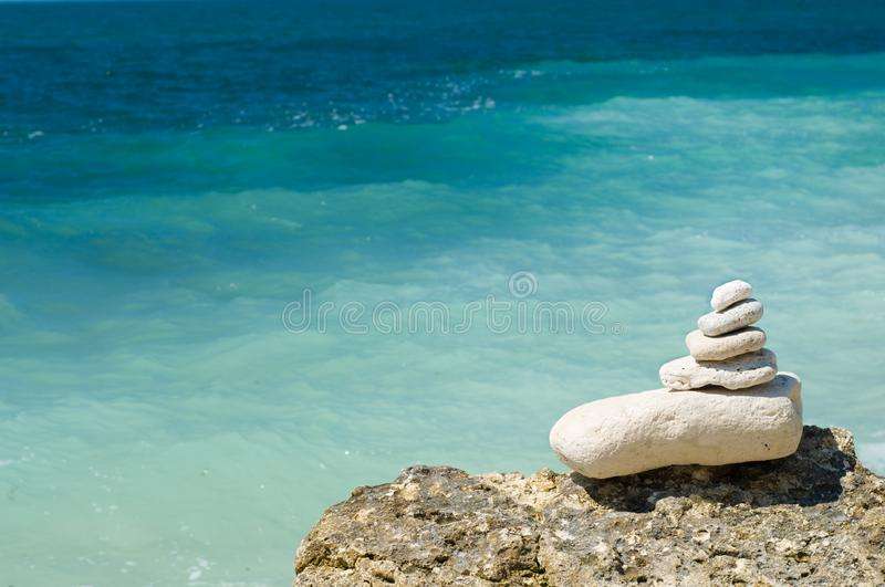 Download Stacked Pebbles On The Beach Stock Photo - Image of peaceful, design: 5977240
