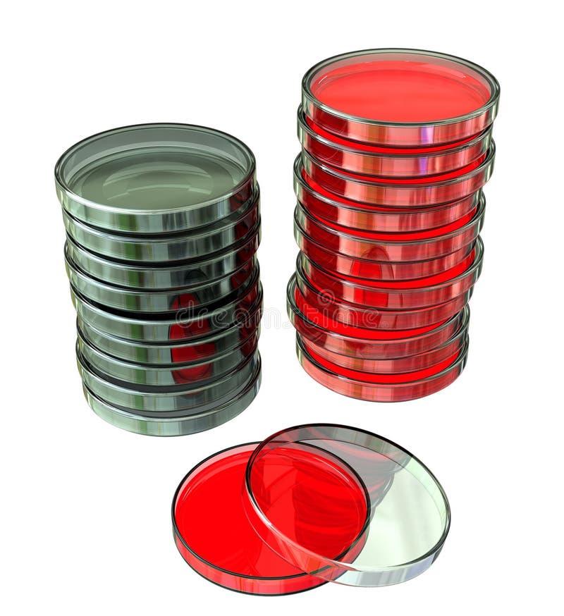 Stacked Petri Dishes stock illustration
