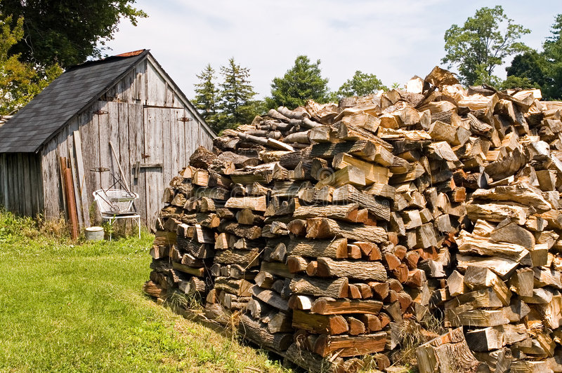 Download Stacked Pile of Firewood stock image. Image of bark, energy - 927261