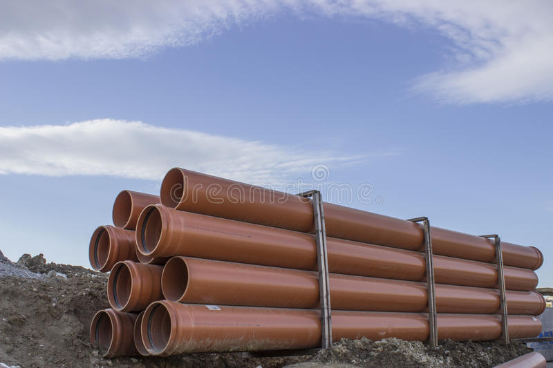 Download Stacked Pipe stock photo. Image of site, construction - 31933530
