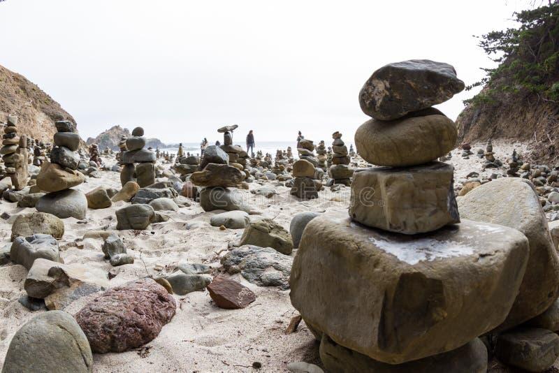 Stacked rocks stock image