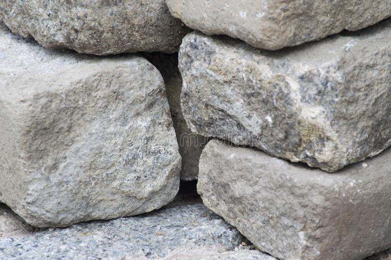 Stacked white rocks texture stock image