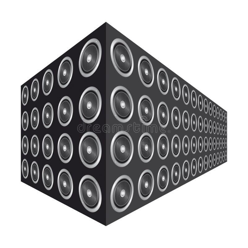 Download Stacked speakers stock illustration. Illustration of white - 17153662