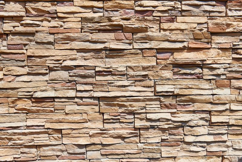 Stacked stone wall background horizontal stock images