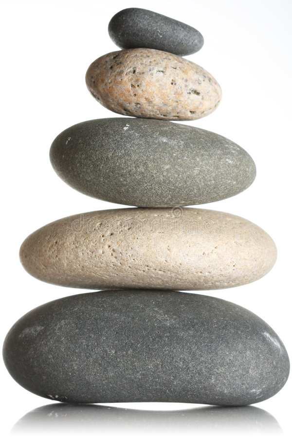 Stacked stones stock images