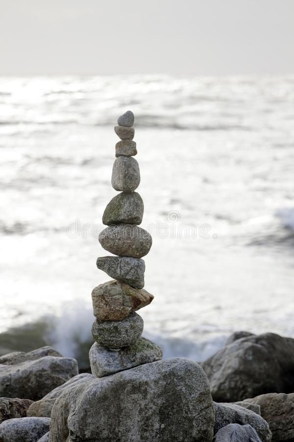 Stacked stones in balance stock images