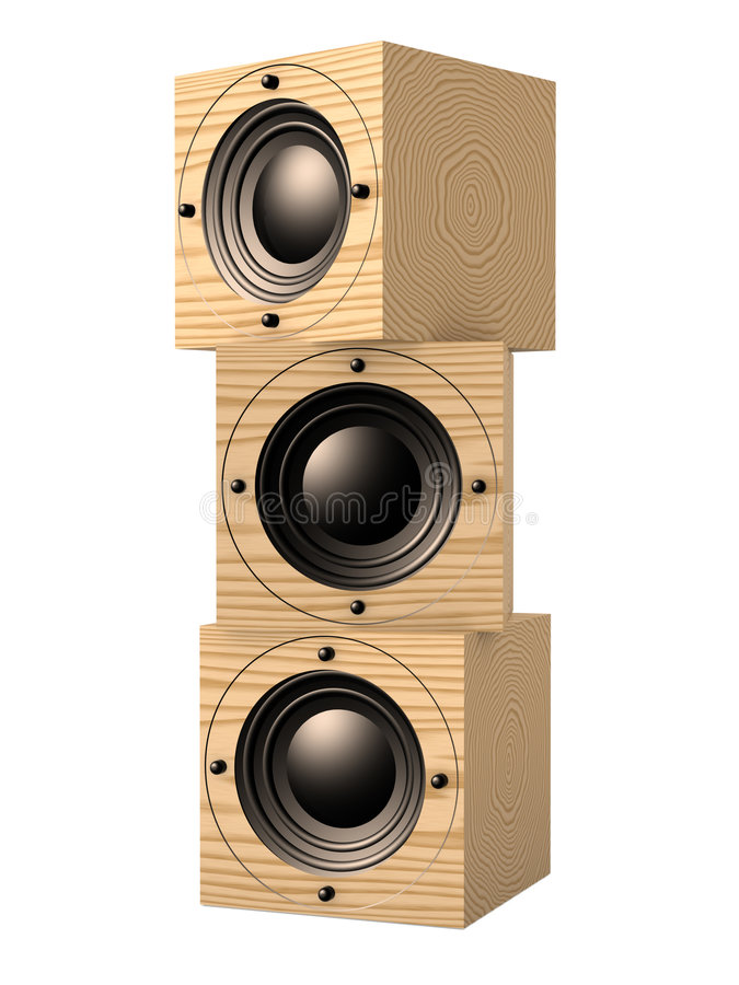 Stacked Subwoofers 2 stock illustration