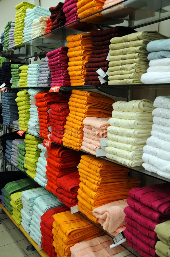 Stacked up bath towels royalty free stock photos