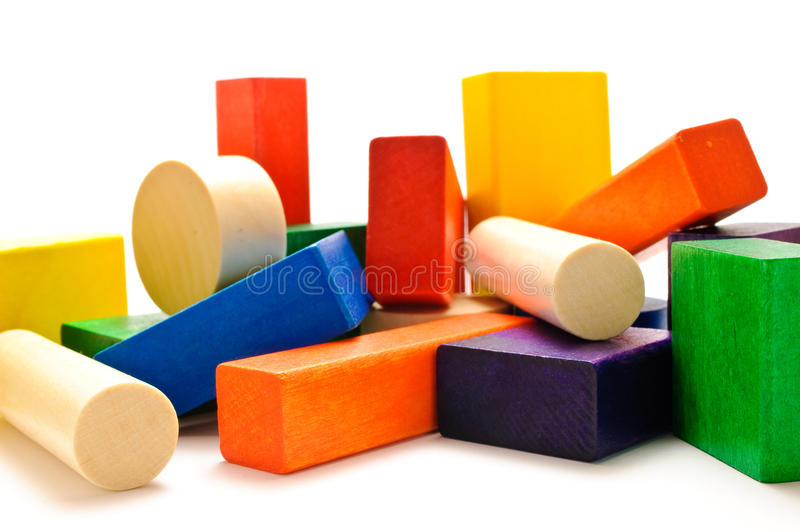 Download Stacked wooden blocks stock image. Image of block, white - 12362997