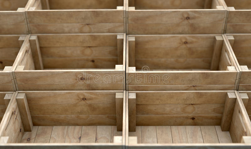 Download Stacked Wooden Crates stock image. Image of deliver, stack - 63172481