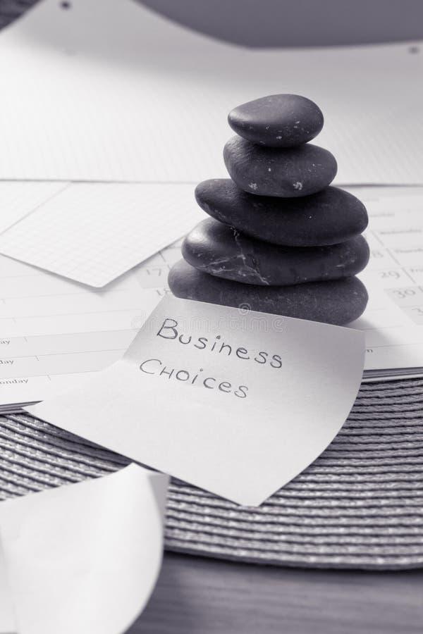 Stacked zen stones: business metaphor for balance stock photography