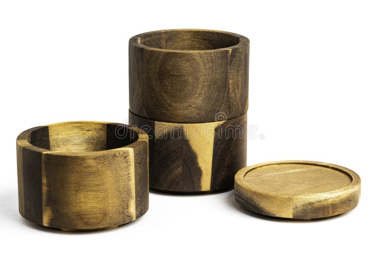 Stacking Bamboo Wood Condition Vessel fotografia stock