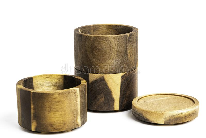 Stacking Bamboo Wood Condition Vessel obrazy royalty free