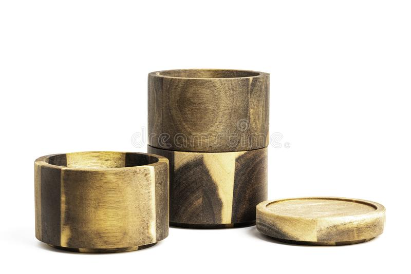 Stacking Bamboo Wood Condition Vessel obrazy stock