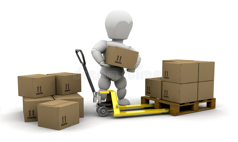 Download Stacking boxes stock illustration. Image of move, stacking - 5576650